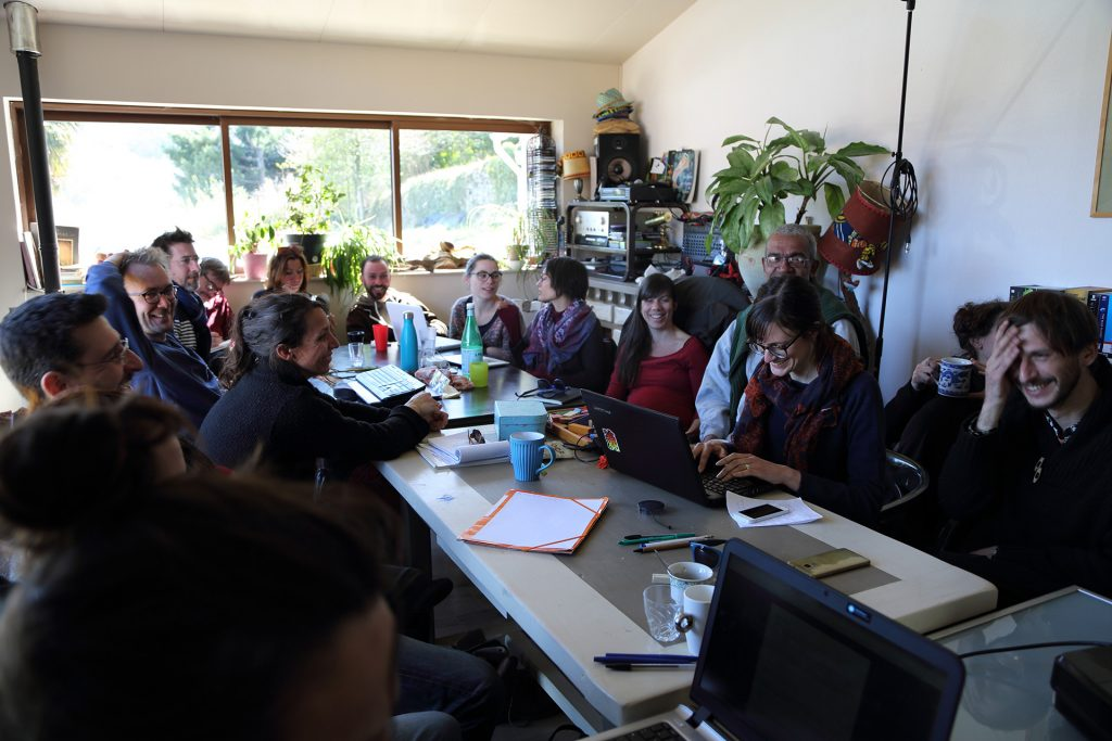 réunion du collectif du moulinage de Chirols